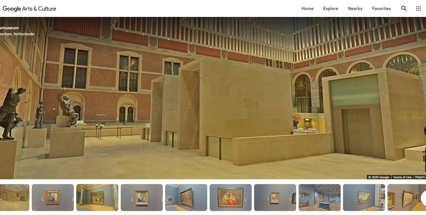 Galerije virtualni obisk Google street view izobraževanje kultura vodnik za ustvarjalce in umetnike