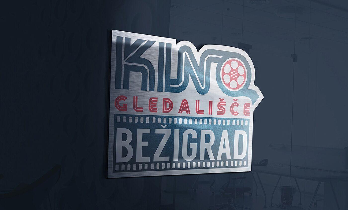 Logotip Kino Gledališče Bežigrad predlog primera uporabe