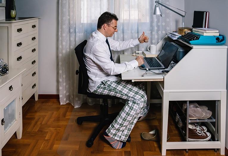 Oblačila delo od doma